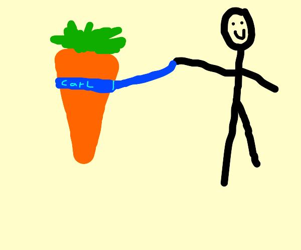A pet carrot named Carl