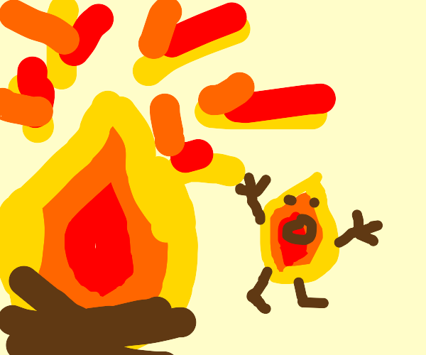 Fire blob running from actual fire