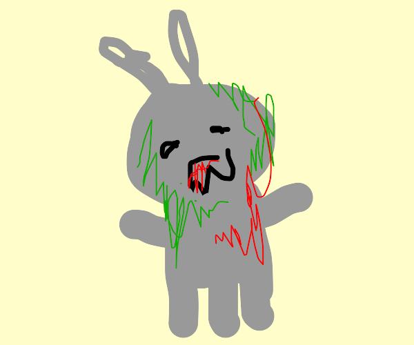 Three-legged Grey alien zombie
