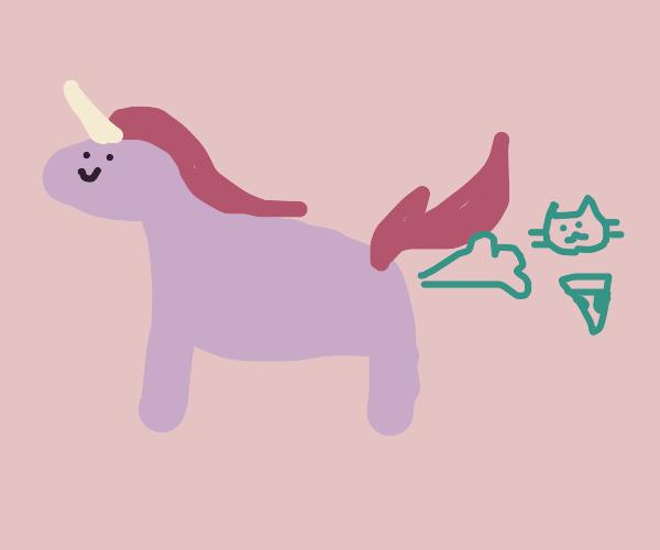 A unicon farting pizza cats
