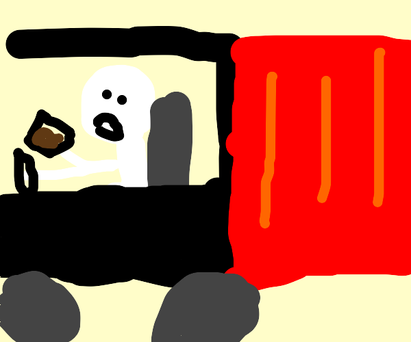 Truck Driver Drinking
