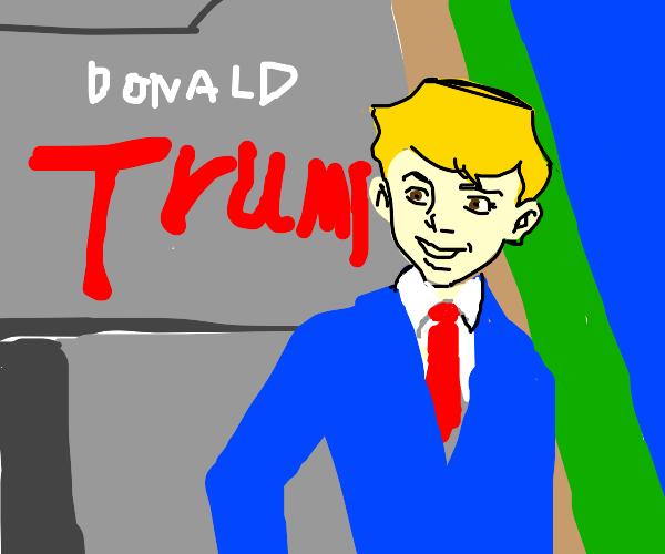 Trump with Jonny Quest's hair