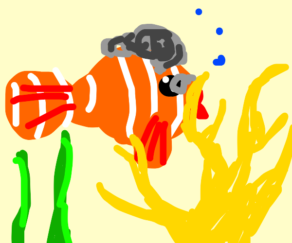 grandma nemo with coral