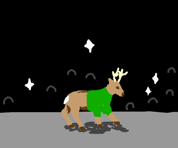 Deer at fashion show