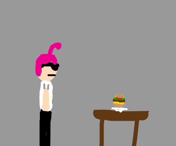 MV Perry stares at Burger