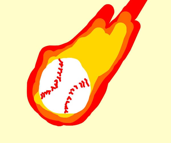 Baseball in a Fire