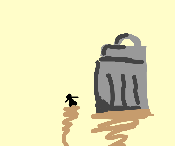 Little Person, Giant Trash Can