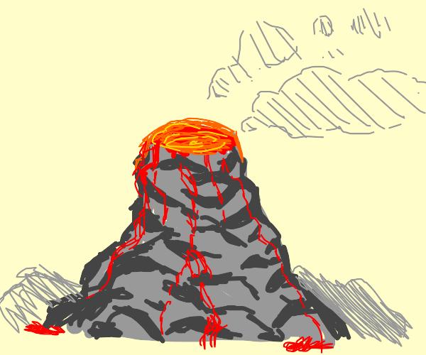 Detailed volcano