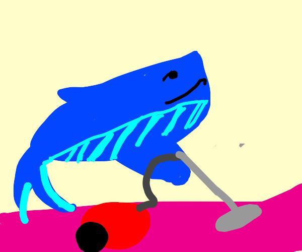 Whale Vacuuming