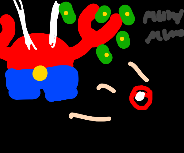 mr krabs coming from a pokeball
