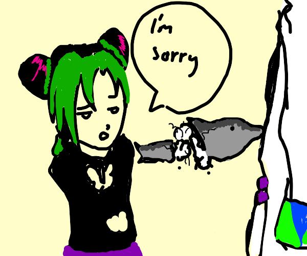 Jolyine apologies