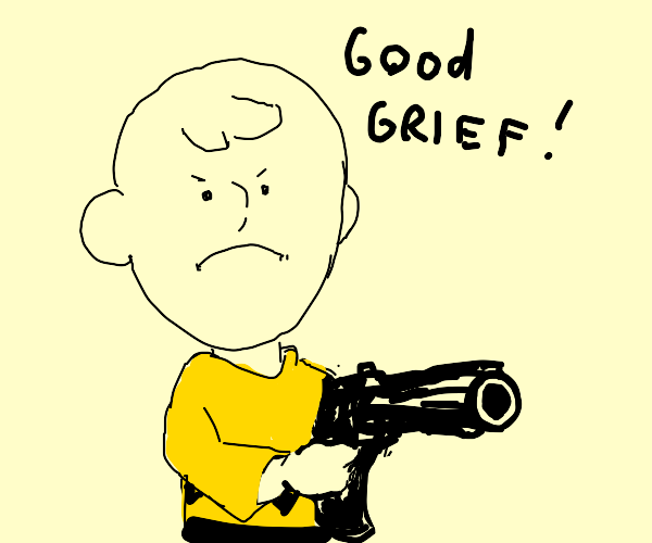 Charlie Brown has had enough