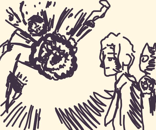 kid explodes