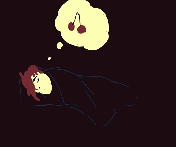 kid in bed dreams of charries