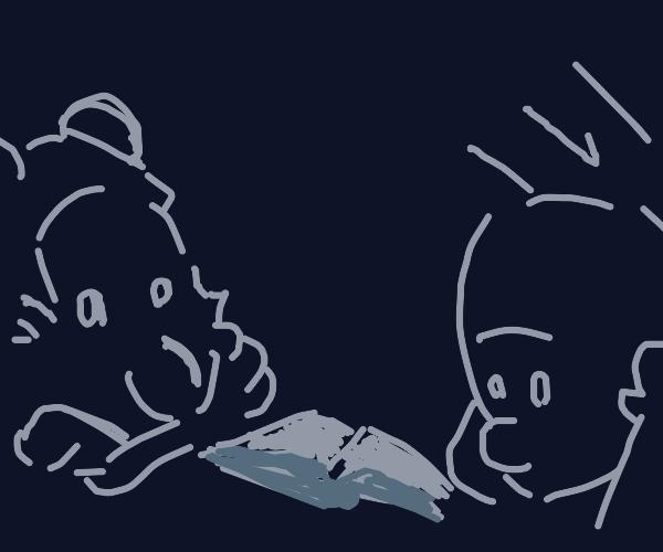 Calvin & Hobbes read in the dark