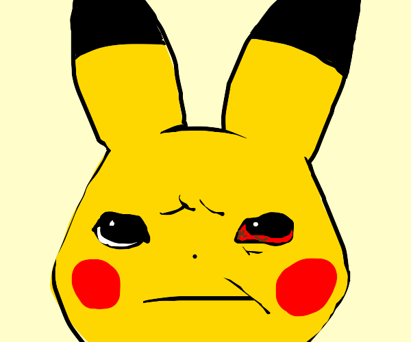 Pikachu's Blood-shot eye