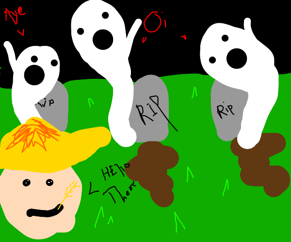Farmer goes to a cemetery and says hi to them