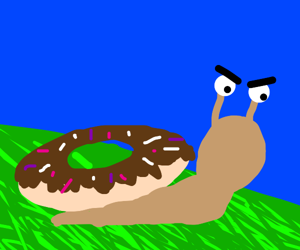 angry slugs with donuts on their back