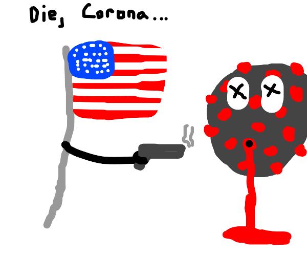 America shoots the corona virus