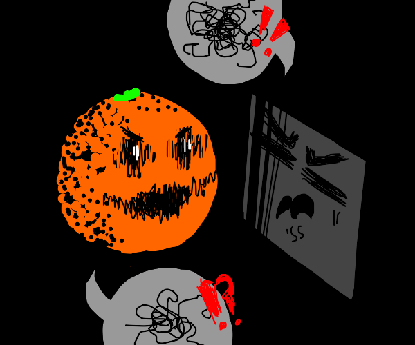 A square & an orange having a heated argument