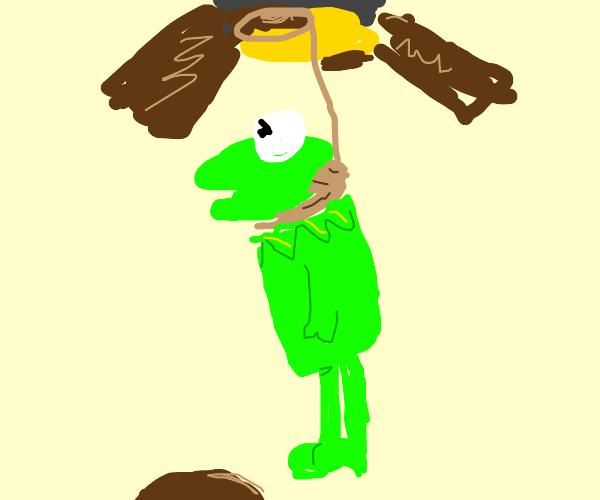 Kermit commits die