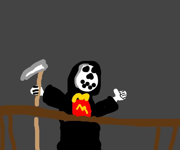 grim reaper has happy meal