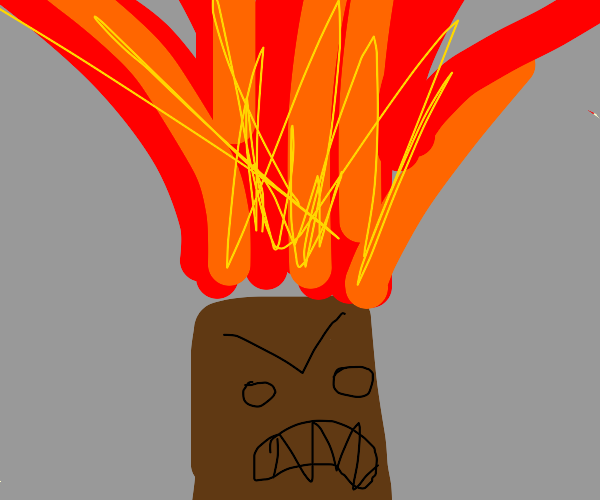 Volcano threatens you with erupting