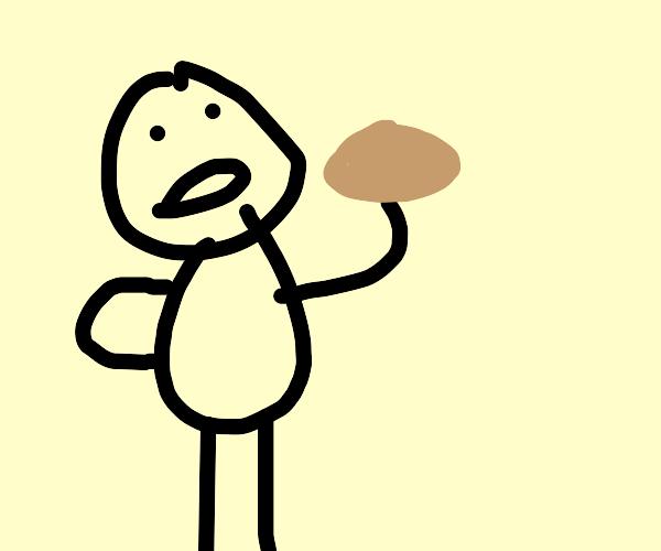 Jesus Eating A Potato