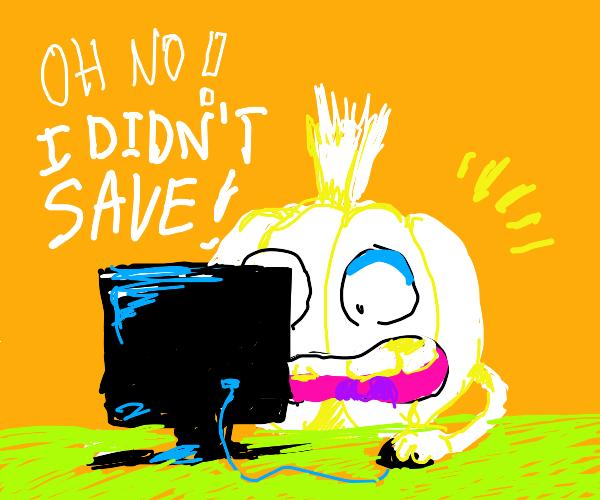 doge garlic clove forgot to save file