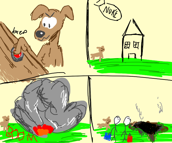 Dog nukes the house while owners are away