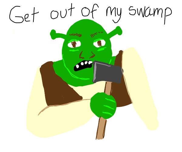 shrek with an axe