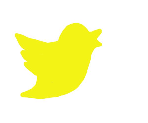 Twitter logo but it's yellow