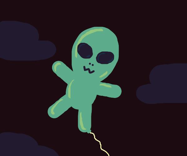 Alien Balloon floating away...