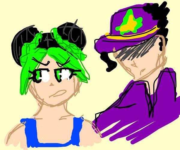 Jolyne and Jotaro