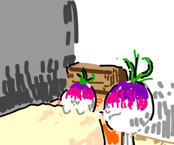 turnip tucks in baby turnip at night