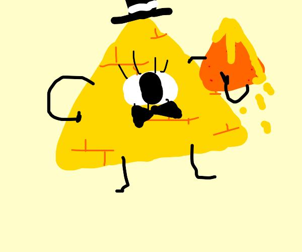 Bill Cipher with nachos