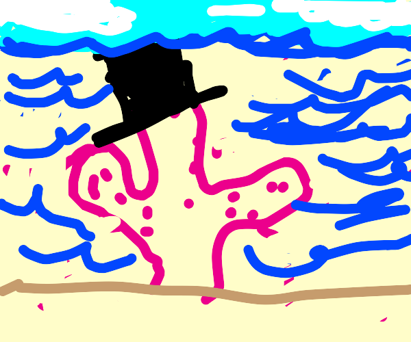 Coral wearing a Top Hat