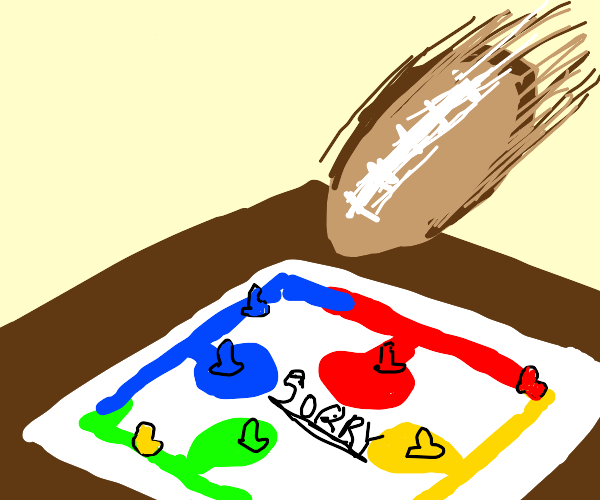 playing sorry with a football