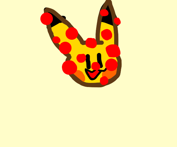 Pizza that looks like Pikachu