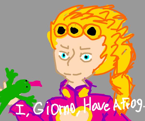 I, Giorno Giovanna, have a frog