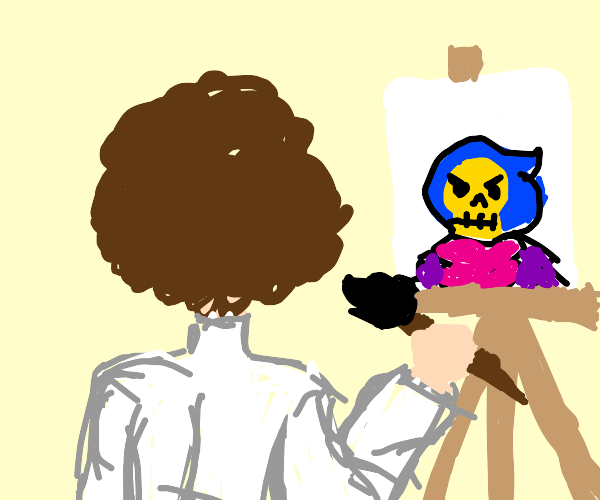 Bob Ross paints angry Skeletor