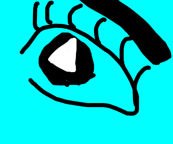 eye with triangle in pupil