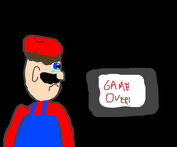 Mario lost a game