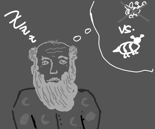 Charles Darwin in a pyjama