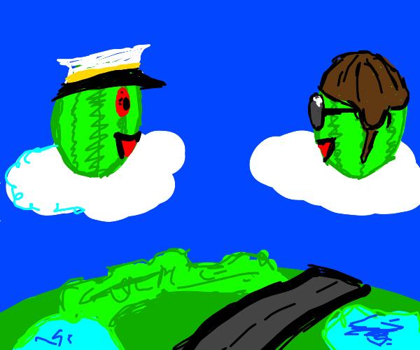 Watermelon are cloud pilots