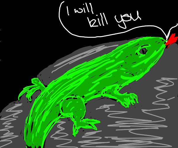 Frightening Lizard