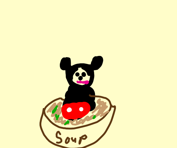 Mickey Mouse in my Soup