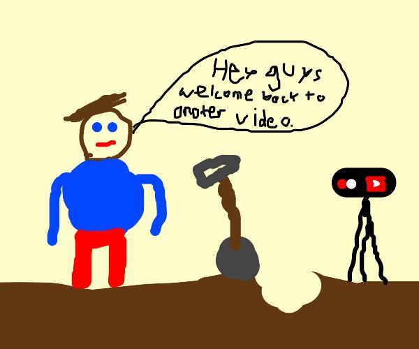 YouTuber Digging
