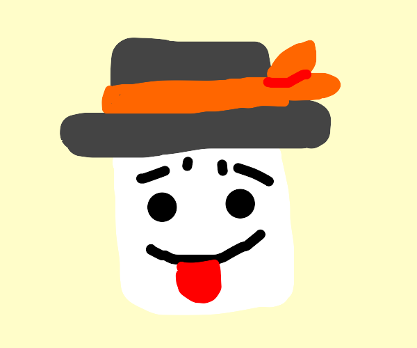 Marshmello with a top hat