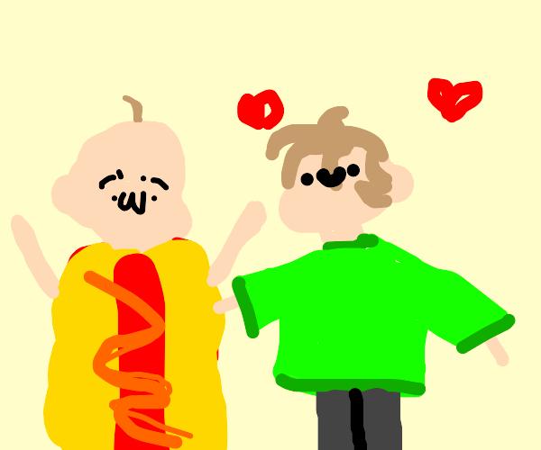 Man loves HotDogMan